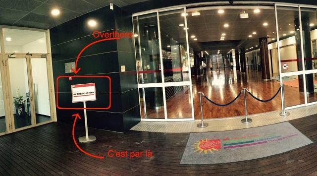 Entrée du Palais des Congrès // Entrance of the Palais des Congrès